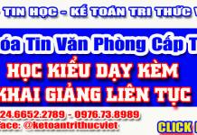 Khóa học tin văn phòng tốt nhất Hà Nội